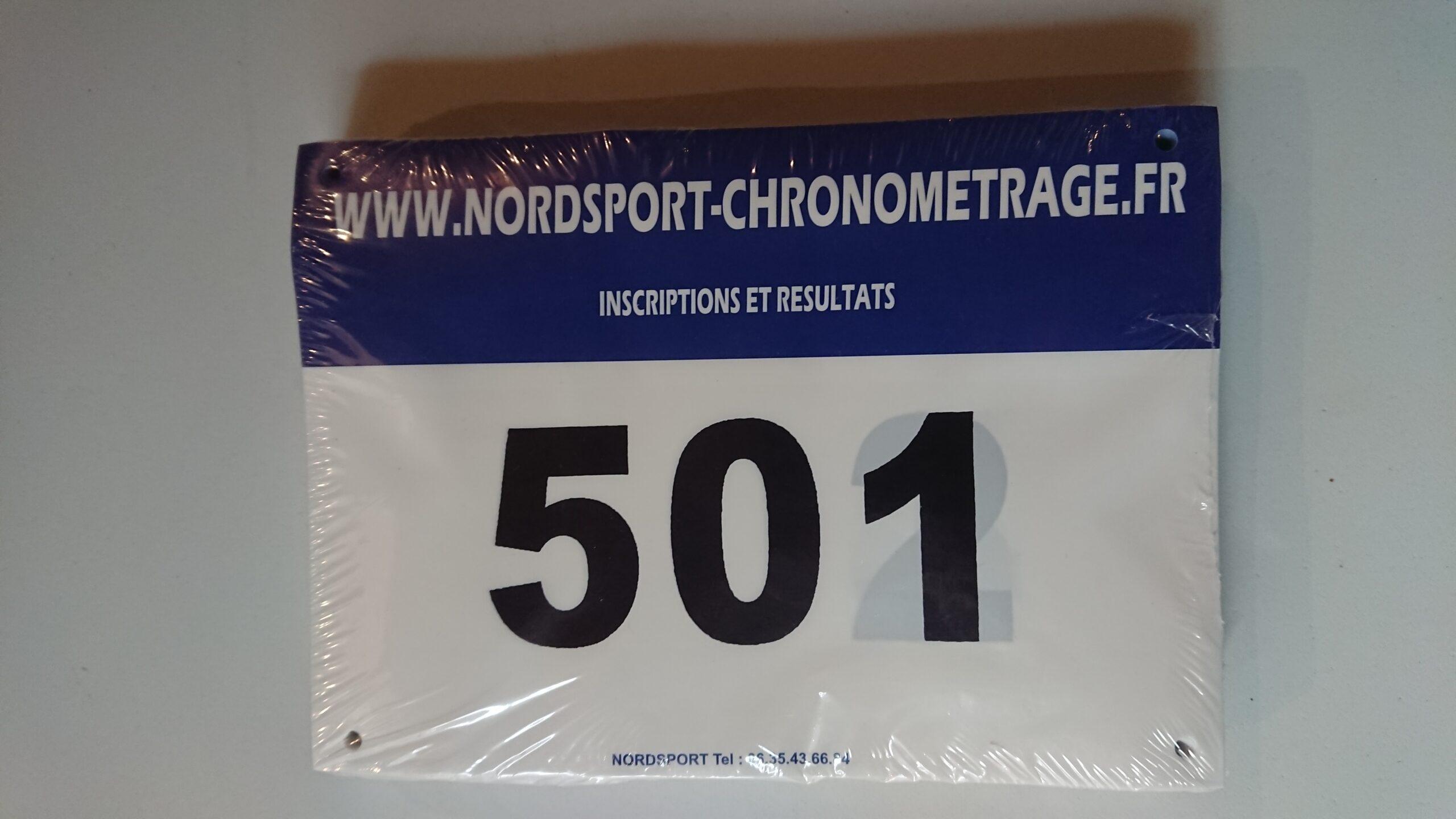 Dossard Nordsport Bleu